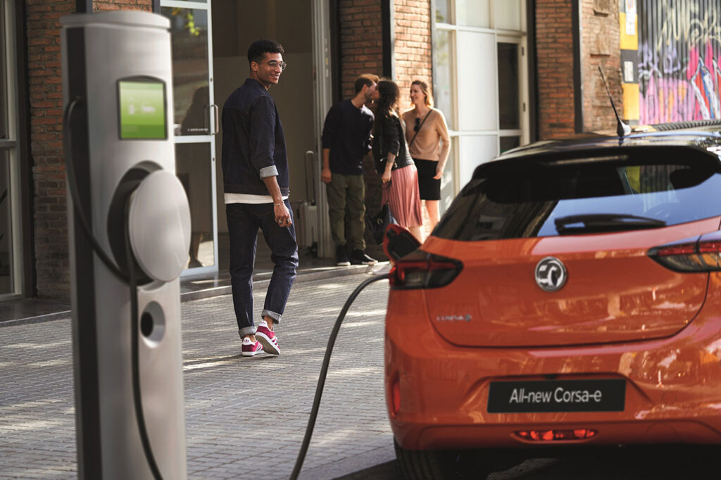 Taylors New Vauxhall Corsa e Charging