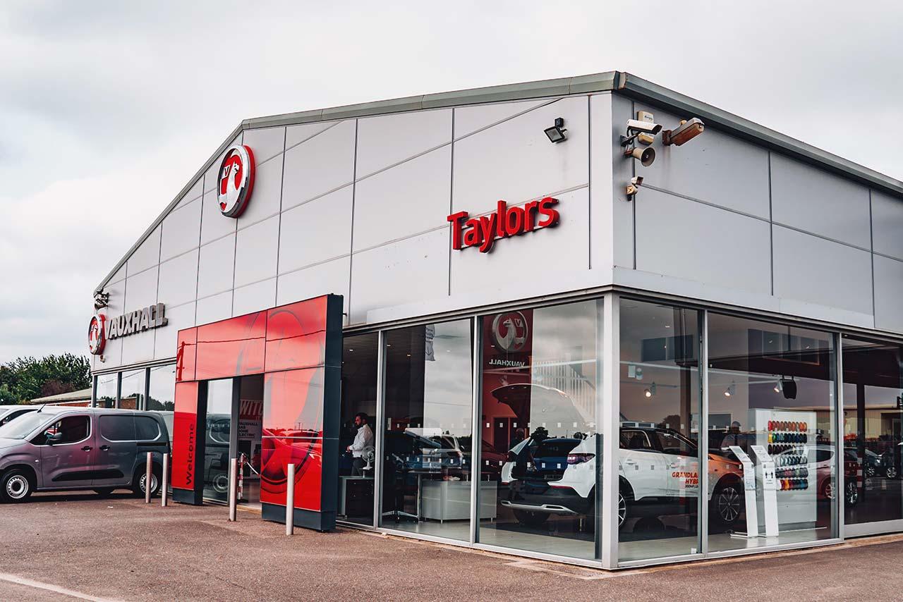Taylors Vauxhall Dealer Showroom