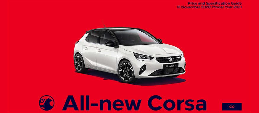 Taylors Vauxhall All New Corsa Price Guide