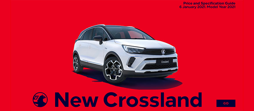 Taylors Vauxhall New Crossland Price Guide