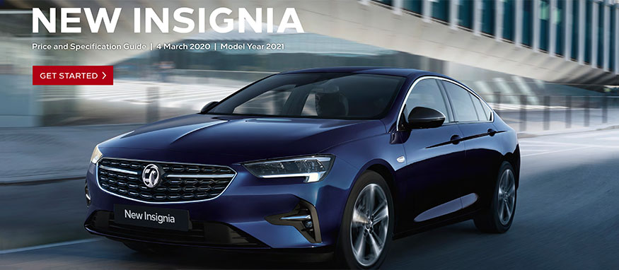 Taylors Vauxhall New Insignia Price Guide