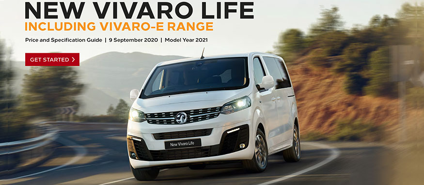 Taylors Vauxhall New Vivaro Life Price Guide